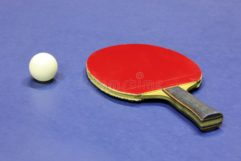 Apparatuur voor pingpong stock afbeeldingen