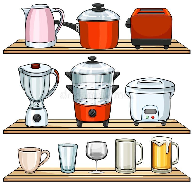 Apparecchi di cucina illustrazione di stock