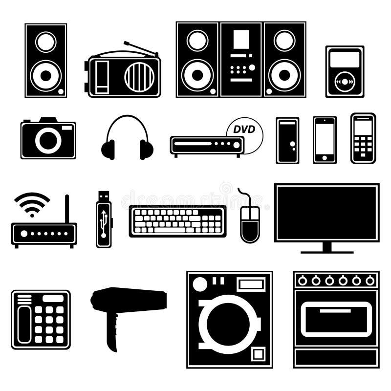 Apparecchi e dispositivi elettronici ed elettrici fotografie stock libere da diritti