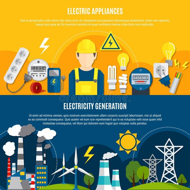 Apparecchi ed insegne elettrici della produzione di energia royalty illustrazione gratis