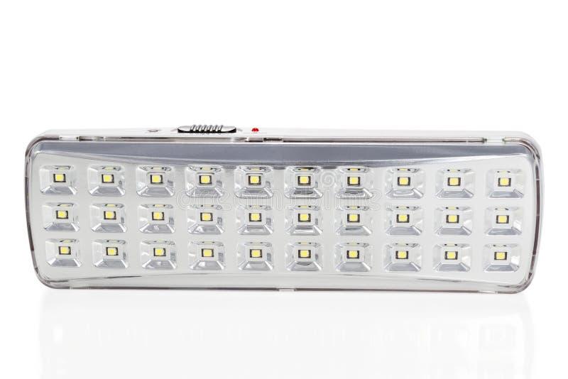 Apparecchio d'illuminazione del LED isolata fotografia stock