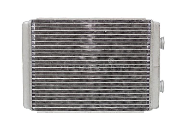 Appareil de chauffage de radiateur de voiture d'isolement sur le fond blanc photos libres de droits