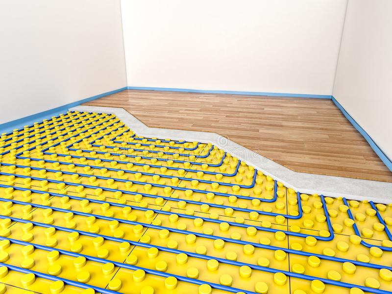 appareil de chauffage du plancher 3d illustration de vecteur
