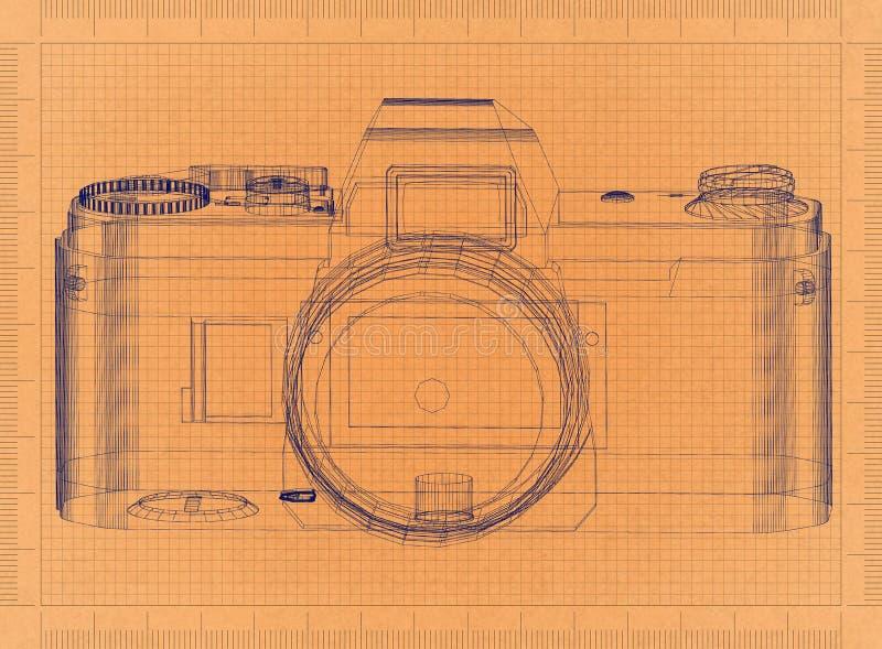 Appareil-photo analogue - rétro modèle illustration de vecteur