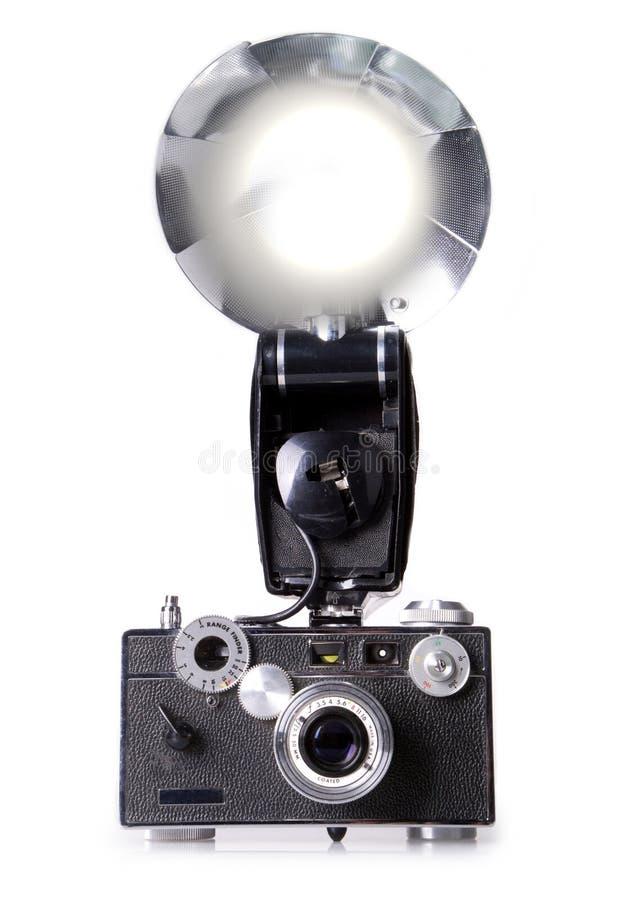 Appareil-photo classique de télémètre de film avec l'allumage instantané photos stock