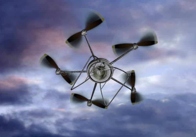 Appareil-photo d'hélicoptère d'UAV illustration libre de droits