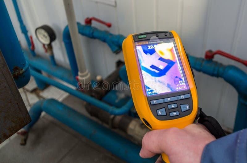 Appareil-photo d'inspection de formation d'images thermiques image libre de droits