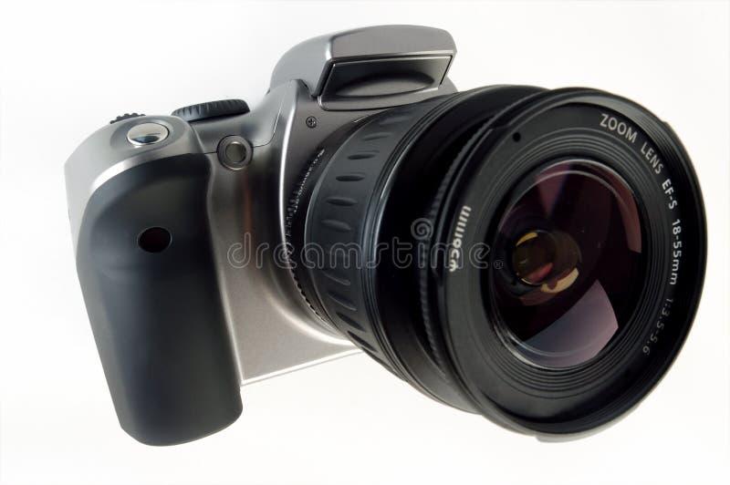 Appareil-photo de Digitals SLR avec le zoom attaché photographie stock