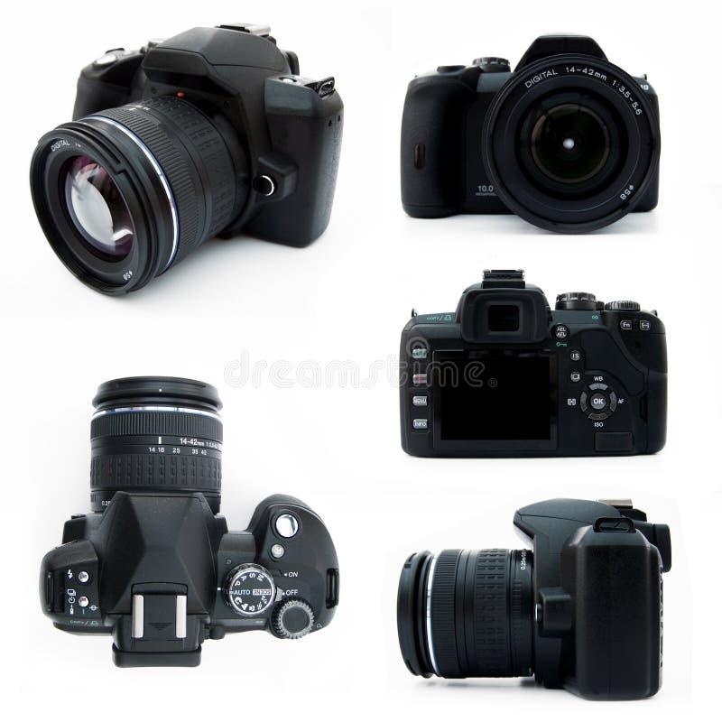 Appareil-photo de Digitals SLR de tous les points de vue d'isolement photos stock