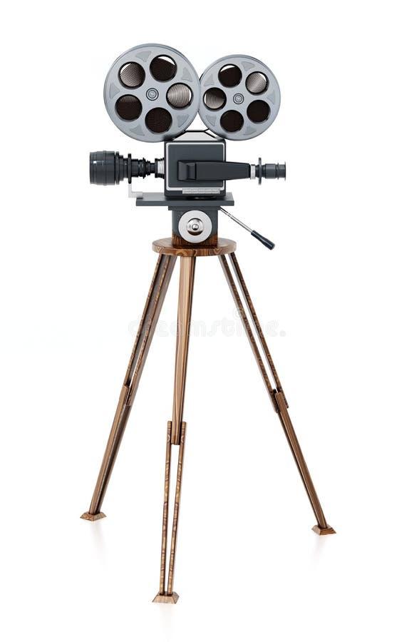 Appareil-photo de film antique d'isolement sur le fond blanc illustration 3D illustration libre de droits
