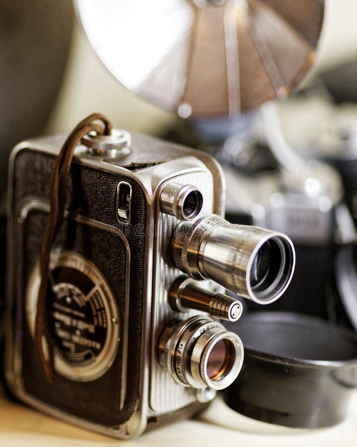 Appareil-photo de home cinéma du vintage 8mm images libres de droits