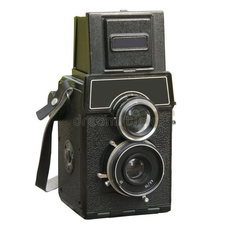 Appareil-photo de photo de deux lentilles photographie stock libre de droits