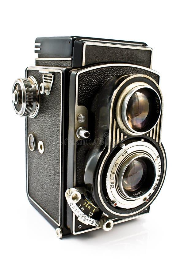 Appareil-photo de photo de lentille du cru deux photo libre de droits