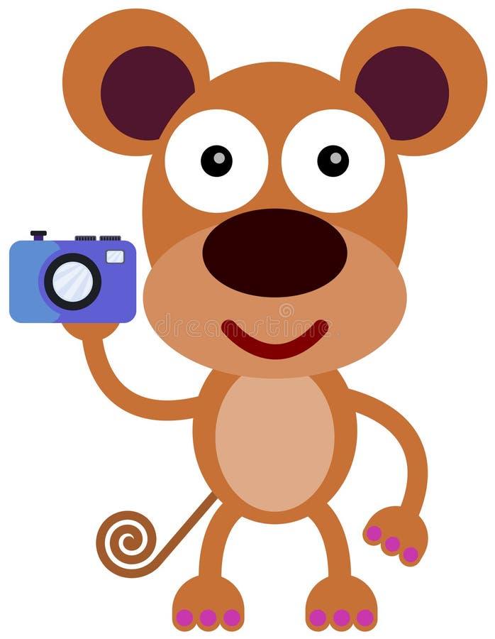 Appareil-photo de singe illustration libre de droits