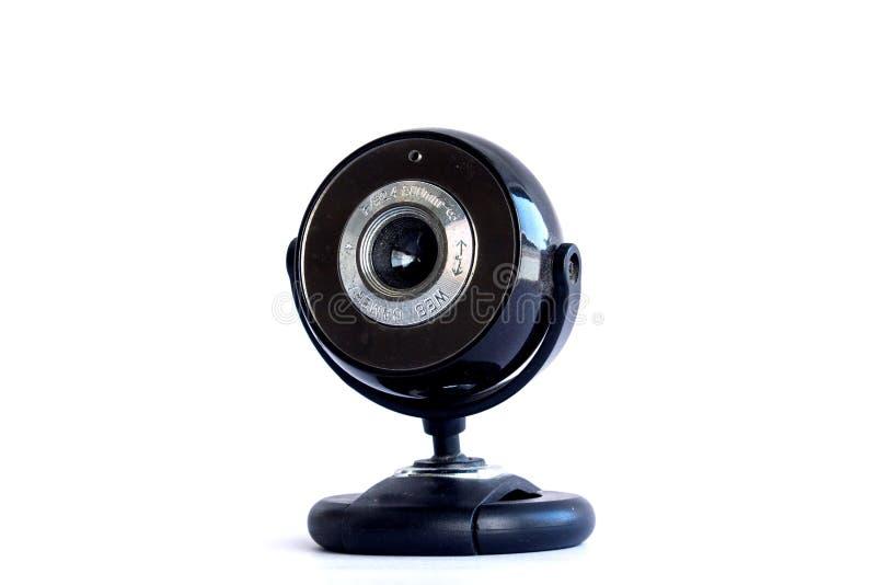 Appareil-photo de webcam sur le blanc image stock