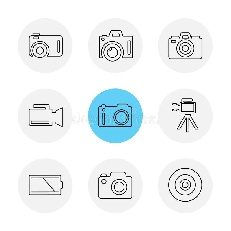 Appareil-photo, enregistreur, capture, clic, photographie, photographie illustration stock