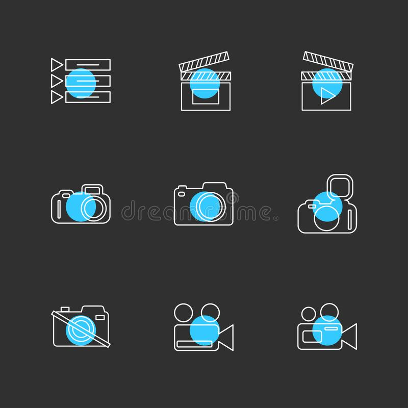 Appareil-photo, enregistreur, capture, clic, photographie, photographie illustration libre de droits