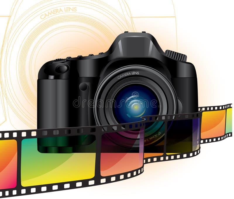 Appareil-photo et film illustration de vecteur