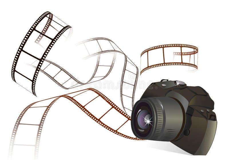Appareil-photo et film de photo illustration de vecteur
