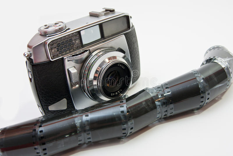 Appareil-photo et négatif de film images libres de droits