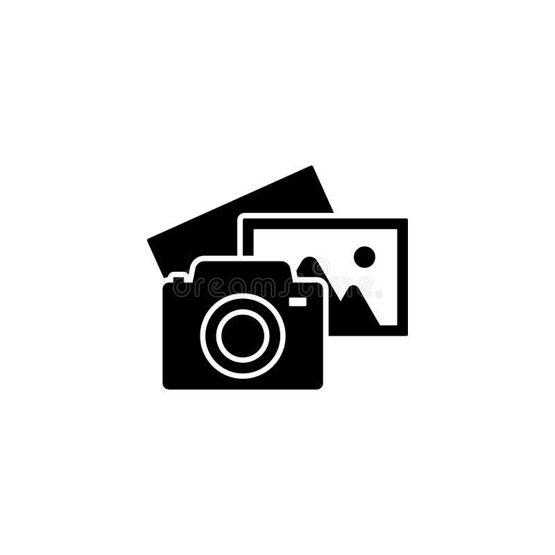 Appareil-photo et photos Fond de tir de photo Conception moderne d'icône illustration de vecteur