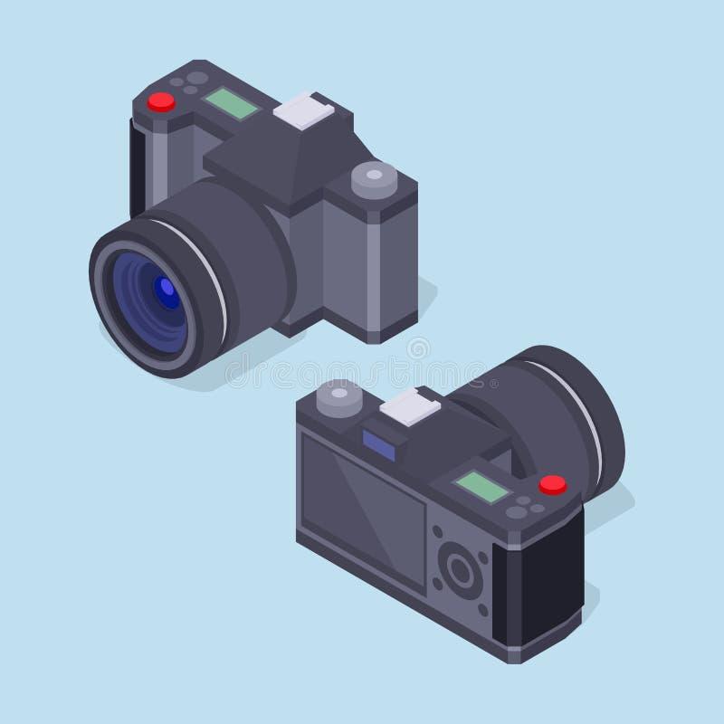 Appareil-photo isométrique de photo illustration libre de droits