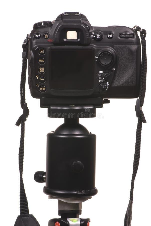 Appareil photo numérique DSLR sur le trépied image stock