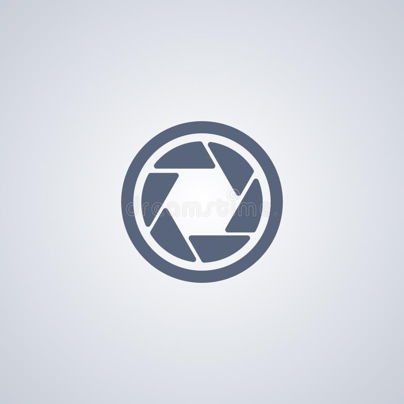 Appareil-photo ; Ouverture, la meilleure icône plate de vecteur illustration de vecteur