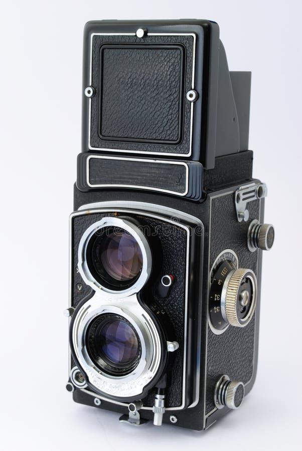 Appareil-photo réflexe de lentille jumelle antique image libre de droits