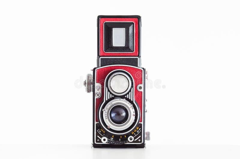 Appareil-photo réflexe de vieille de format lentille moyenne de jumeau photographie stock