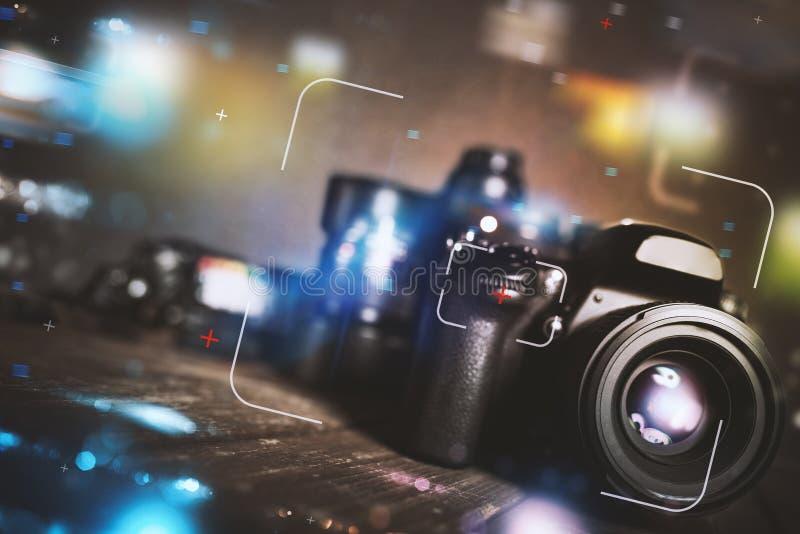 Appareil-photo réflexe professionnel images libres de droits