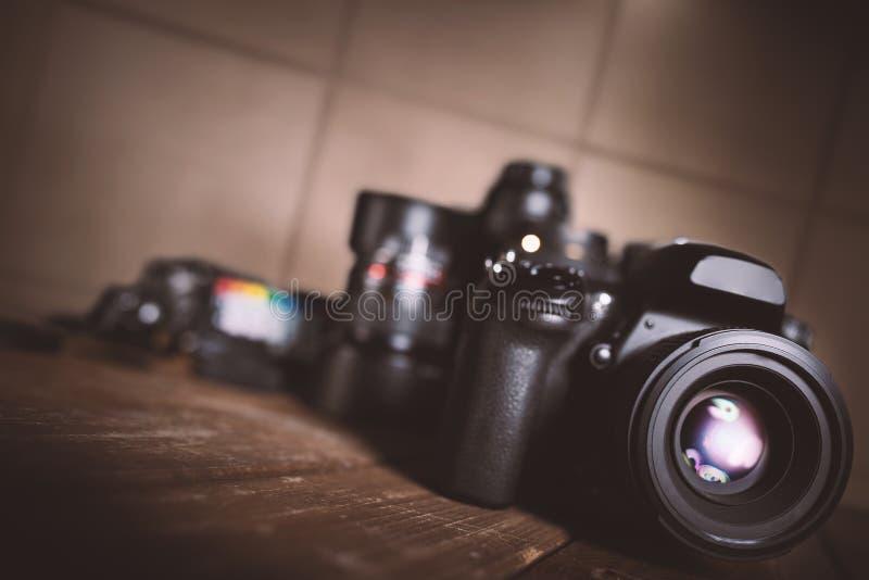 Appareil-photo réflexe professionnel photo libre de droits