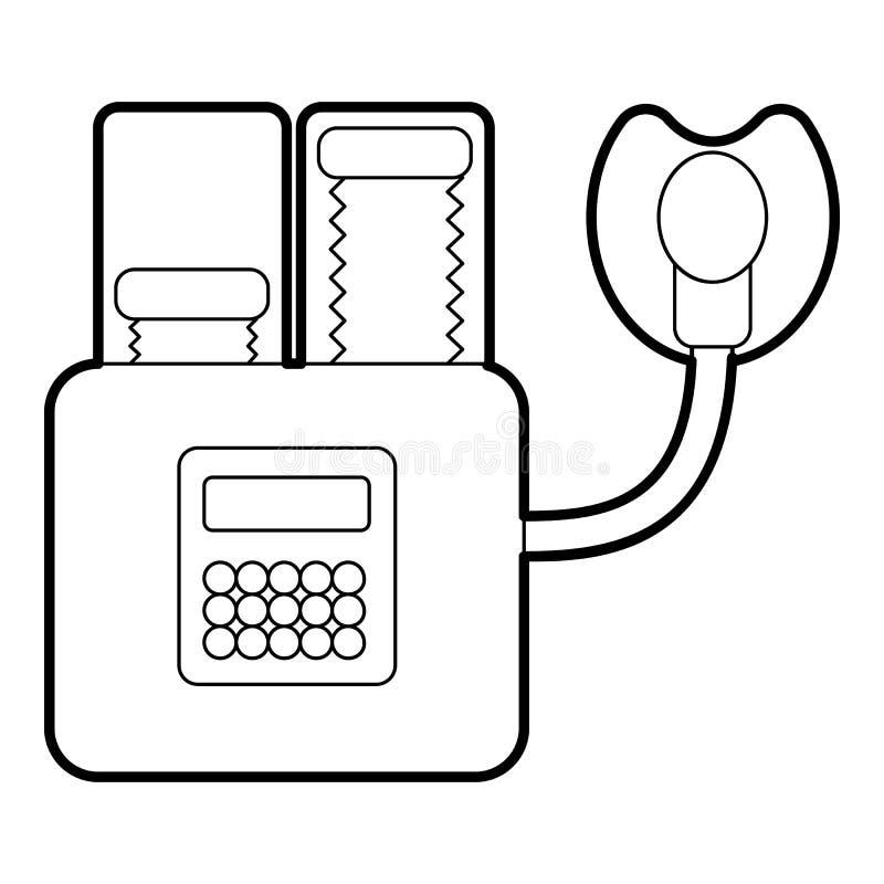 Appareil pour l'icône de respiration artificielle illustration stock