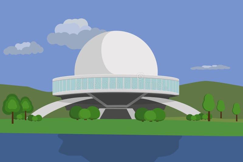 Appareillage de planétarium pour la projection illustration libre de droits