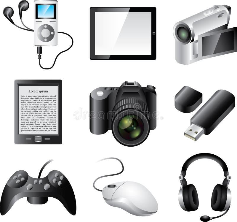 appareils électroniques populaires illustration de vecteur