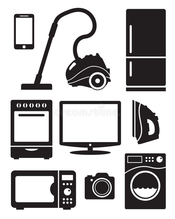 Appareils ménagers et électronique illustration stock