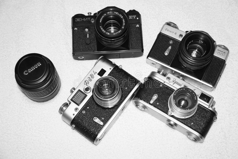 appareils-photo photographie stock libre de droits