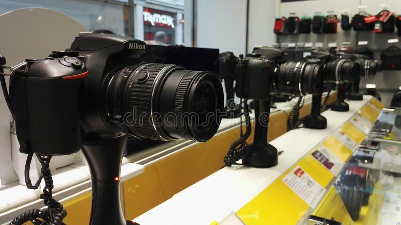 Appareils-photo de dslr de Nikon images stock