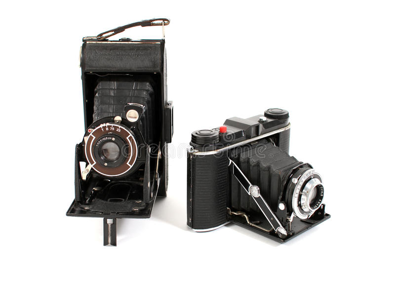 Appareils-photo de film de cru photographie stock libre de droits