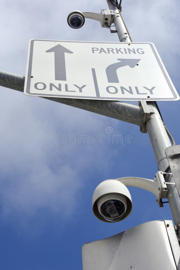 Appareils-photo de rue de surveillance photographie stock