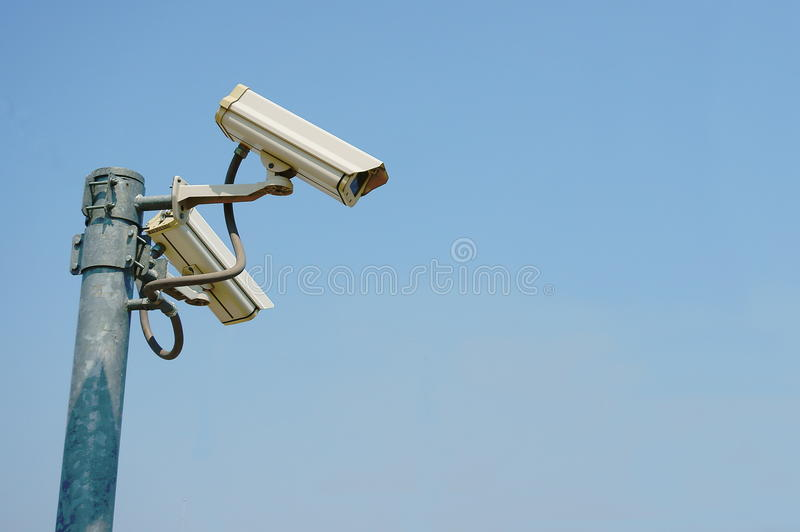 Appareils-photo de télévision en circuit fermé de sécurité images stock