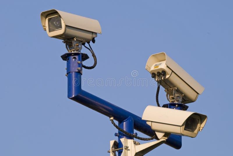 Appareils-photo visuels de surveilance images libres de droits