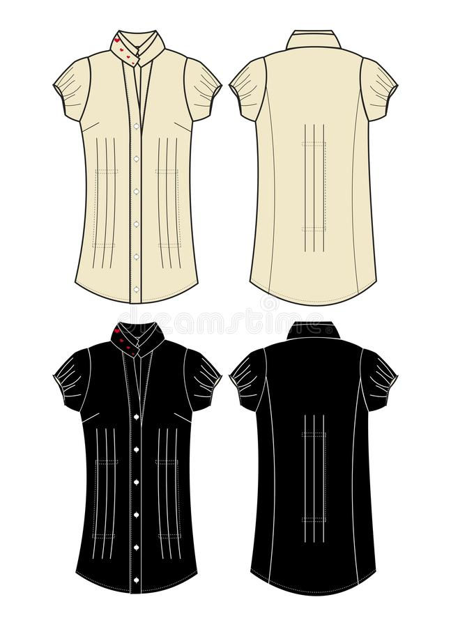 Download Apparel girl dress brown stock vector. Illustration of graphic - 28785322