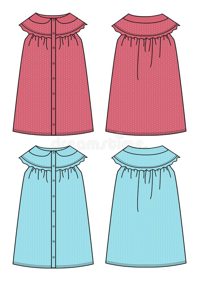 Download Apparel girl dress simple stock vector. Image of clip - 28786360