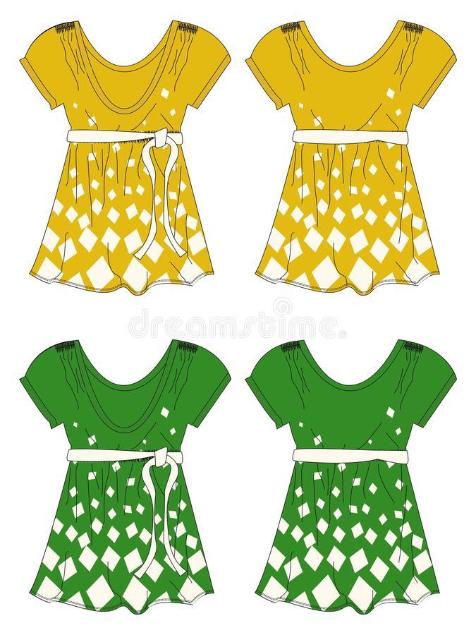 Apparel girl dress yellow green