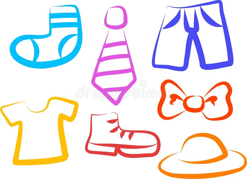 Apparel Icons stock photography