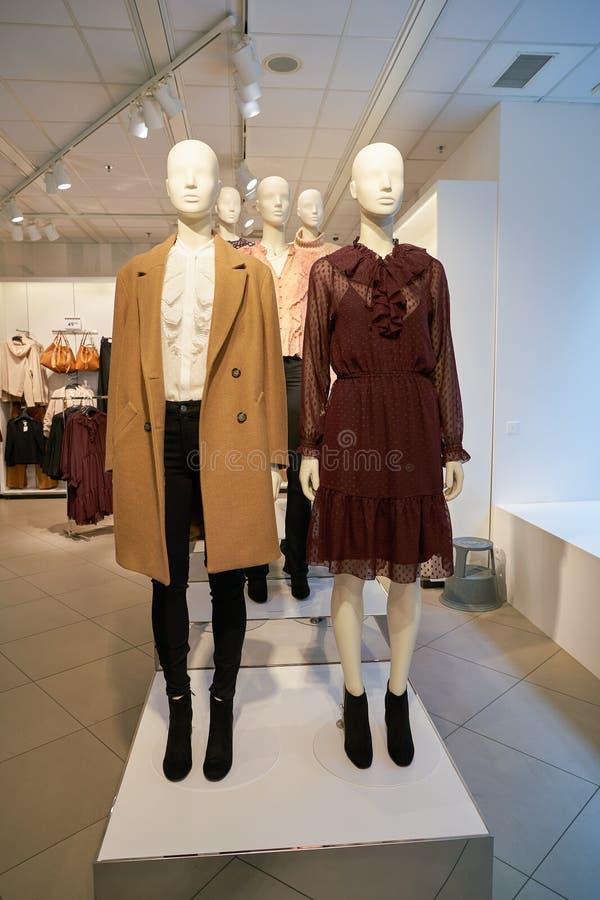 Apparel store. ZURICH, SWITZERLAND - CIRCA OCTOBER, 2018: interior shot of H&M store in Zurich stock photos