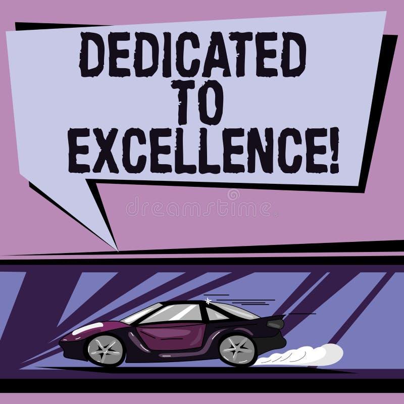 Apparence conceptuelle d'écriture de main consacrée à l'excellence Photo d'affaires présentant un engagement ou une promesse de f illustration de vecteur
