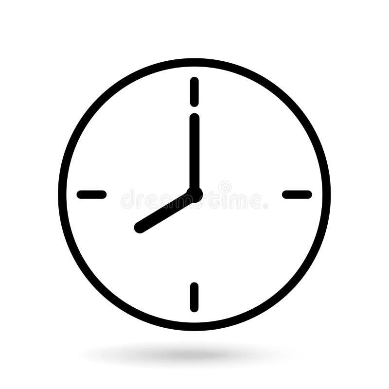 Apparence d'horloge huit heures de fond blanc d'isolement illustration libre de droits