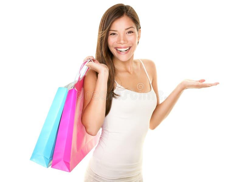 Apparence de femme d'achats photo stock